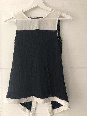 H&M Chemisier blanc-bleu