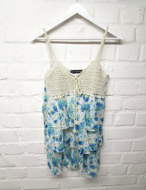 Crochet Top multicolored polyester