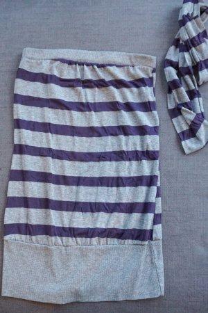 Please Haut bandeau violet-gris clair