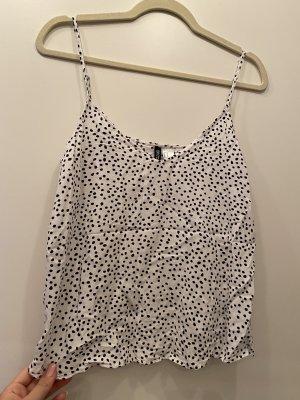 H&M Camisoles white-black