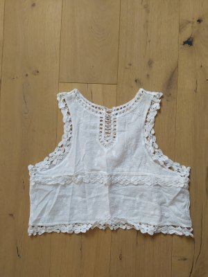 Cropped Top natural white