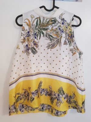 Zara A Line Top natural white-yellow