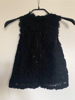 Zara Top de cuello de cisne negro