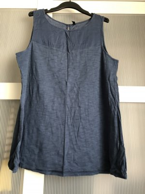 Top Benetton L blau petrol