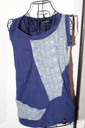 Top blau gemustert von Zergatik - baskische Mode