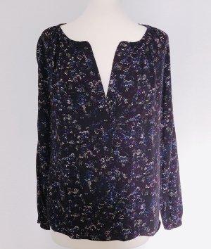 Top / Bluse gemustert Baumwolle + Leinen
