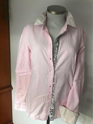 Blue Fire Long Sleeve Blouse light pink cotton