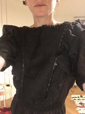 Isabel Marant Étoile Camicetta con arricciature nero