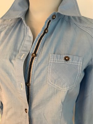 Tom Tailor Colletto camicia azzurro Cotone