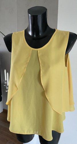 Top - Bluse örmellos-Sonnen-Gelb von ZARA Gr. S neu
