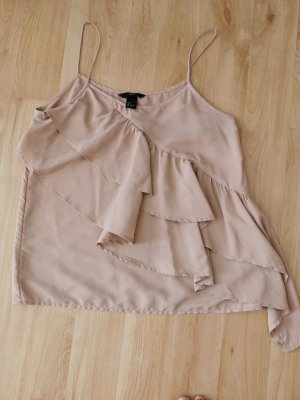 H&M Top a balze color oro rosa