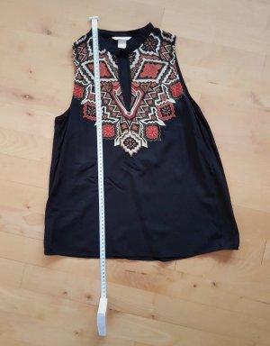 Top/Bluse schwarz mit Druck