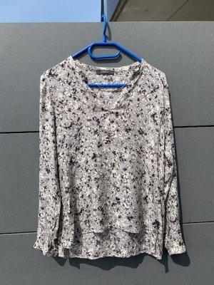 Top Bluse Shirt Esprit Gr. S/36 grau mit Blumen wie neu