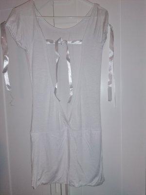 Blusa sin espalda blanco