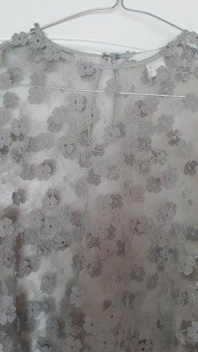 Top Bluse transparent mit Blüten 34