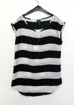 H&M Blusa bianco-nero