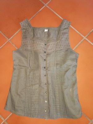 top Blusen Tops von S Oliver 100% Baumwolle 34 XS khaki grün neu ungetragen