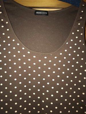 Top / braun  mit  Cremefarbenen Punkten / Gr : M