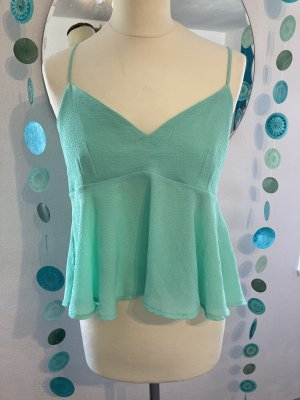 Zara Haut bustier vert menthe-turquoise