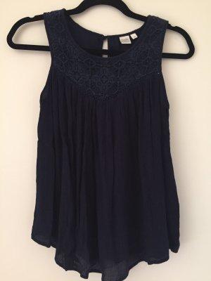 Cowl-Neck Top dark blue
