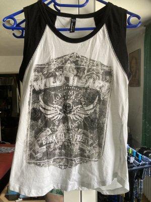 Blind Date Koszulka o kroju podkreślającym sylwetkę biały-czarny