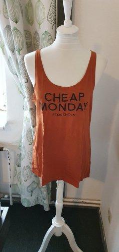 Cheap Monday Off-The-Shoulder Top black-cognac-coloured cotton