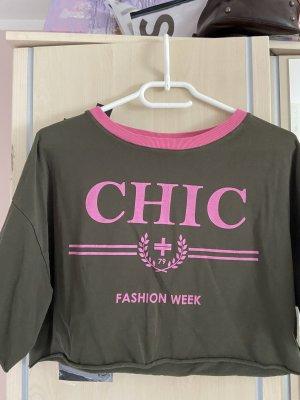 Koszulka sportowa różowy-khaki