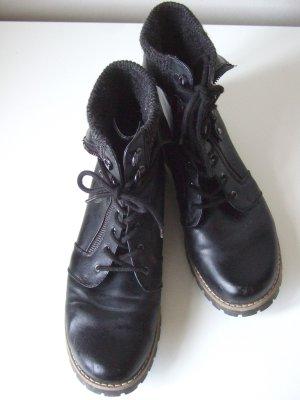white mountain Aanrijg laarzen zwart Leer