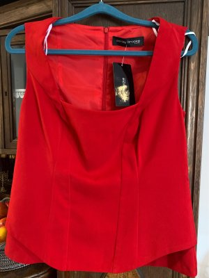 Ashley Brooke Corsage Top red