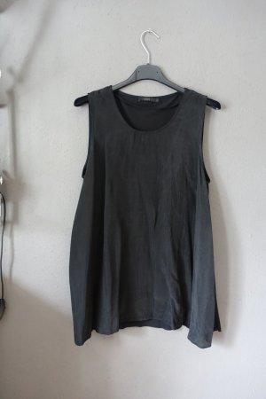 Top, COS, schwarz, Materialmix, Oberteil, Shirt