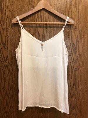 Rue de Femme Top z cienkimi ramiączkami kremowy-w kolorze białej wełny