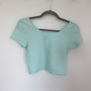 H&M Divided Cropped Top mint-turquoise