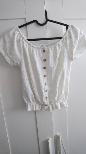 Top Cropshirt weiß 34 XS