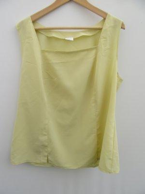 Top Damen Vintage Retro gelb Gr. 48