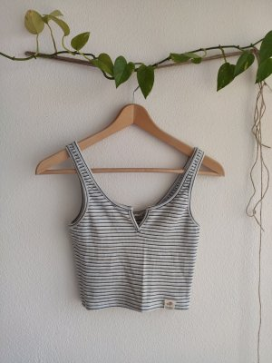 Pull & Bear Cropped top wit-azuur