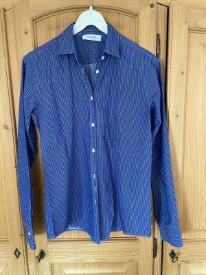 Aglini Camicia blusa blu-bianco
