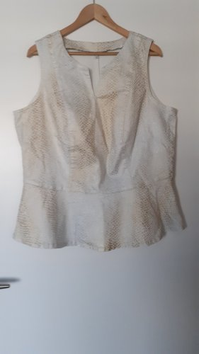M&S Peplum Top gold-colored-natural white