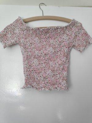 H&M Top spalle scoperte color oro rosa