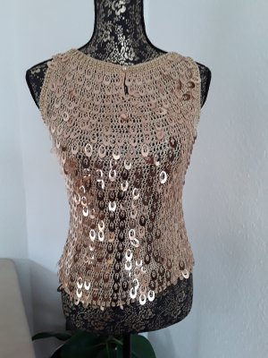 Knitted Top gold-colored