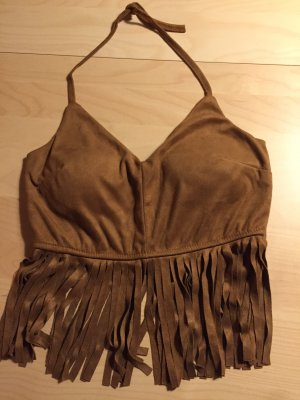 0039 Italy Cropped top lichtbruin