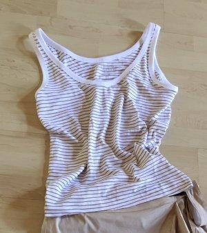 Esprit Basic Shirt beige-white