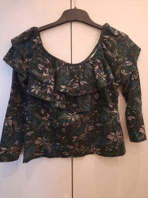 H&M Carmen blouse veelkleurig