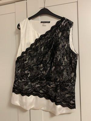 Corsage Top black-white