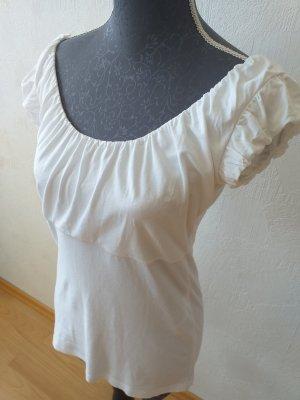 Comma Haut à basque blanc