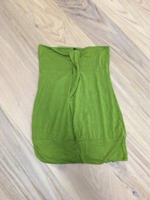 Amisu Top z dekoltem typu bandeau zielony
