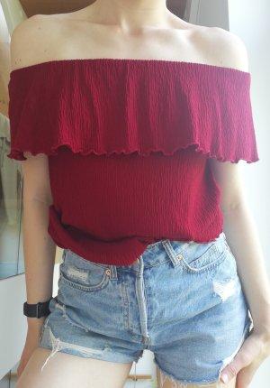 Pull & Bear Top épaules dénudées multicolore