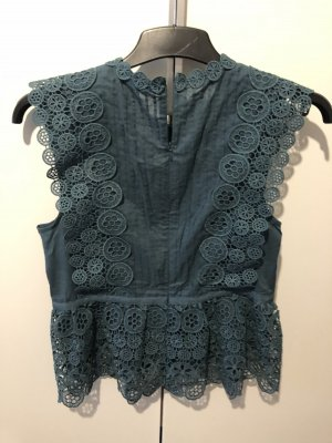 Lawrence Grey Peplum Top petrol