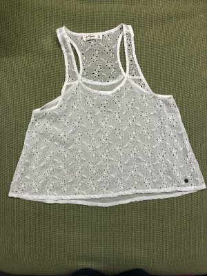 Abercrombie & Fitch A Line Top white