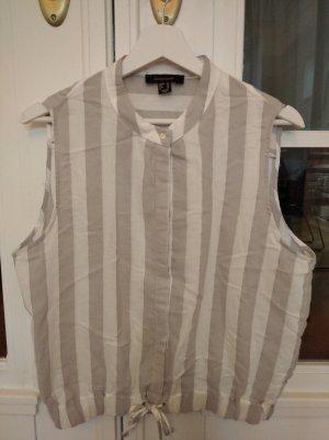 Athmosphere Mouwloze blouse wit-lichtgrijs
