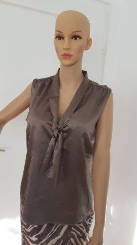 s.Oliver Selection Top in seta marrone-grigio